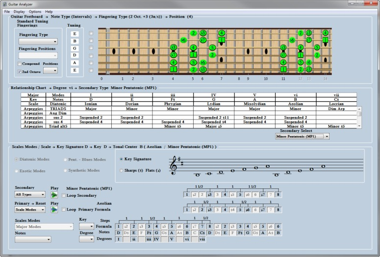 Click to view Guitar Analyzer Software 1.0.7.13 screenshot