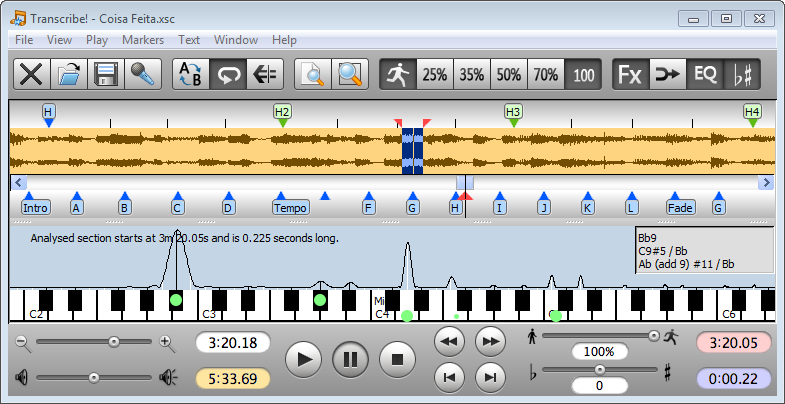 Transcribe! - Software to help transcribing recorded music.