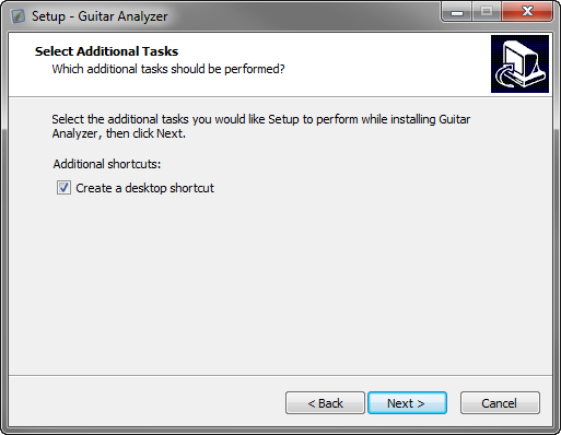 Select Additional Task Create Shortcut