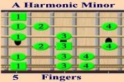 A Harmonic Minor - Fingers
