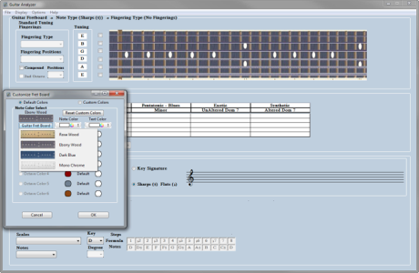 Selectable Guitar Fret Boards